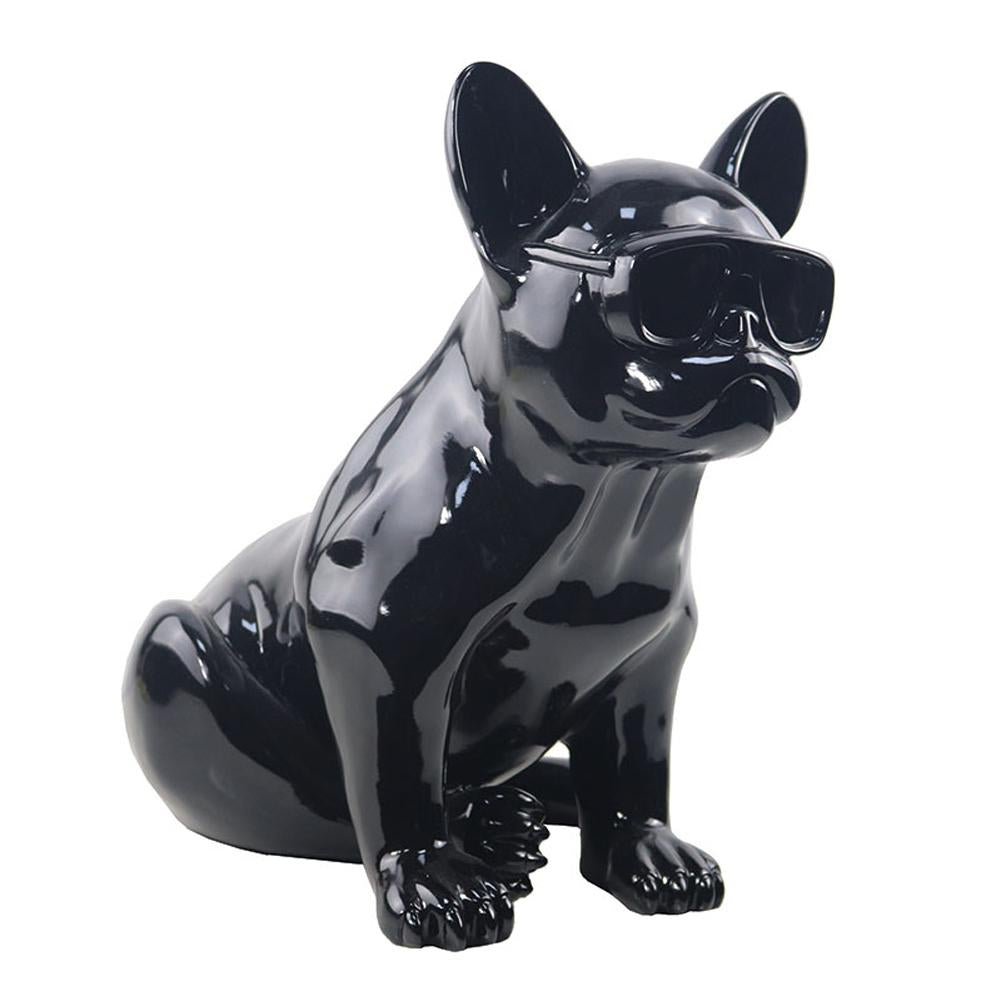 Status figurines for interior decoration Dog wearing Sunglasses