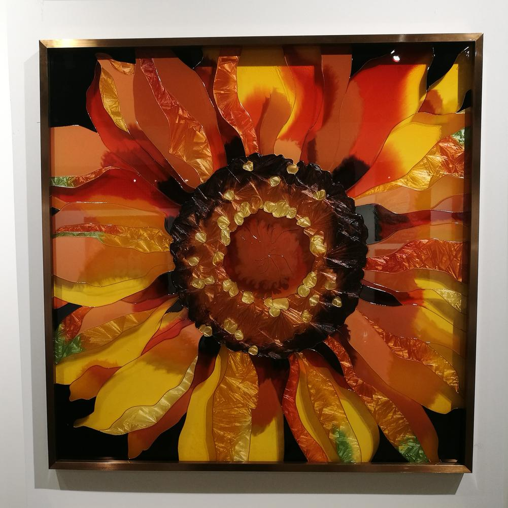 ACEVER_ART_GLASS_PICTURE_FRAME_SUNFLOWER