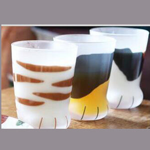 Cats Paw Novelty Glass Coffee Milk Cups