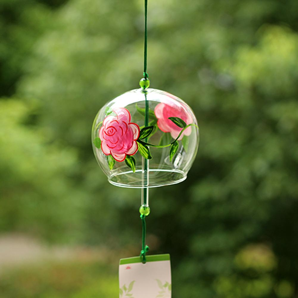 ACEVER_GLASS_WINDCHIME_PINK_ROSE