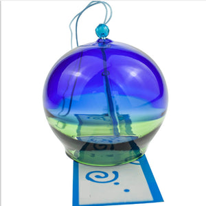 Color Glass Windchime Bell Birthday Gift Home Garden Decoration