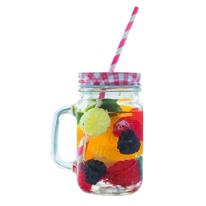 Glass Bottle Beverage Jar Milk Cup Storage Container
