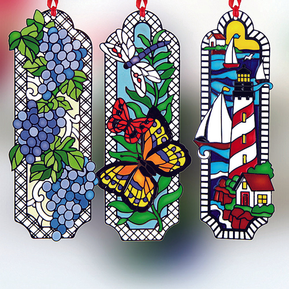 Handpaint metal bookmark with cloisonne enamel art premium gift