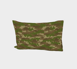 "Dinosaurs Camo Pillow Case in browns and green. Standard size 27""x21""."