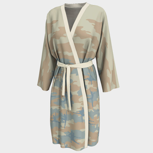 Peignoir Robe | Ballet 1 | Beige, Peach, and Pale Blue - Mask Brand Camo Camouflage Design Clothing, Bags and Accessories