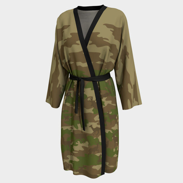 Peignoir Robe | Hunter | Browns and Green - Mask Brand Camo Camouflage Design Clothing, Bags and Accessories