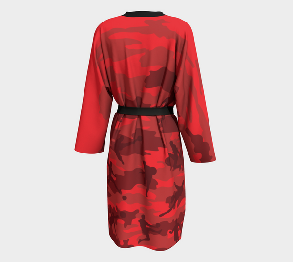 Peignoir Robe | Soccer | Reds and Black - Mask Brand Camo Camouflage Design Clothing, Bags and Accessories
