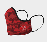 Cotton Face Mask | Basketball Camo | Reds - Mask Brand Camo Camouflage Design Clothing, Bags and Accessories
