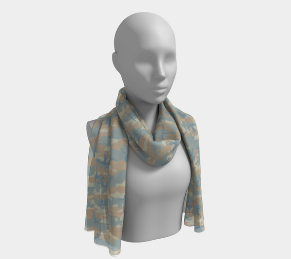 Long Ballet 1 Scarf, beige, peach, pale blue, in two sizes.