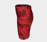 Pencil Skirt | Hunter Camo | In Reds. Left side view.