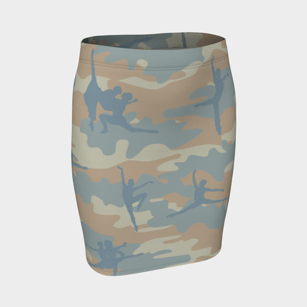 Pencil Skirt | Ballet | Beige, Peach, and Pale Blue - Mask Brand Camo Camouflage Design Clothing, Bags and Accessories