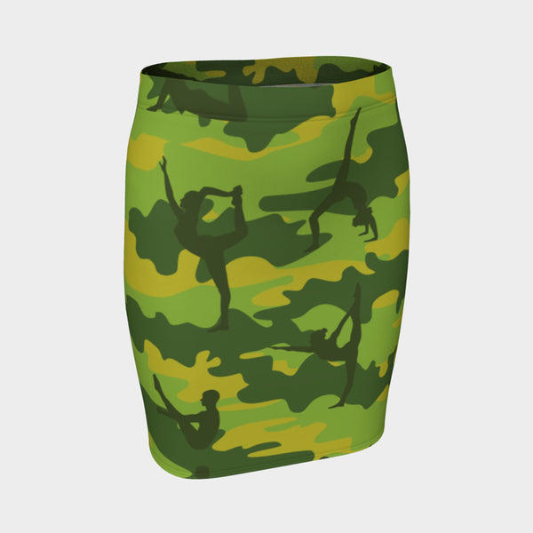 Pencil Skirt | Yoga | Tropical Greens - Mask Brand Camo Camouflage Design Clothing, Bags and Accessories
