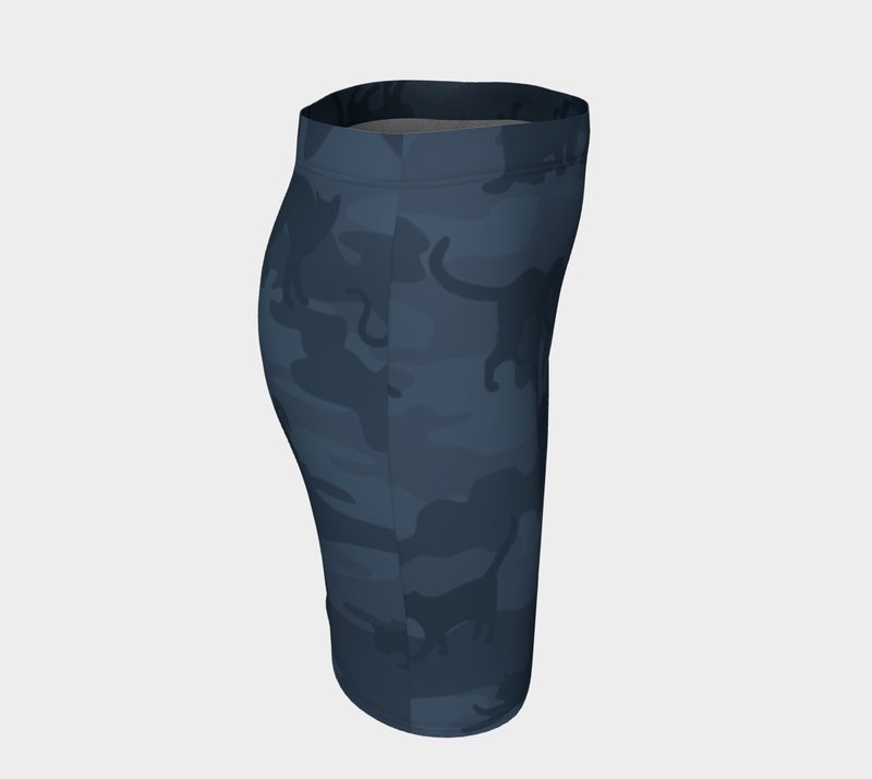 Pencil Skirt | Cats | In Grays - Mask Brand Camo Design Clothing, Bags and Accessories
