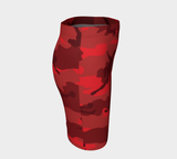 Pencil Skirt | Hunter Camo | In Reds. Right side view.