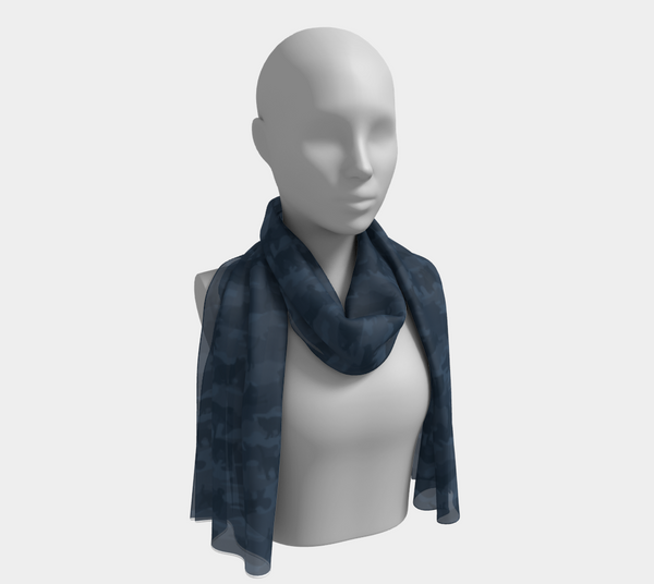 Long Cats Scarf, grays, in two sizes.