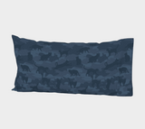 Cats Camo Pillow Case in dark grays. King size.