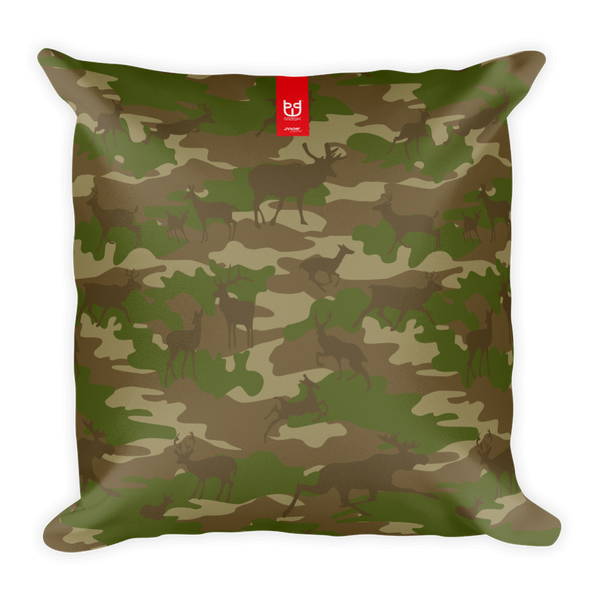 Camo Pillow | Hunter Camo In Browns and Green - Front view