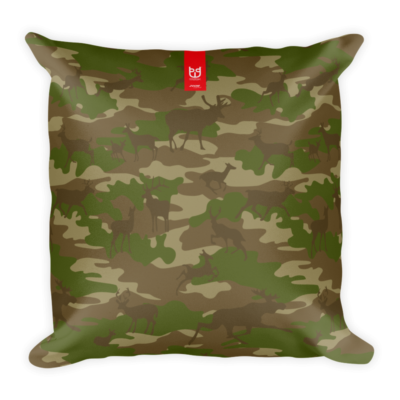 Camo Pillow | Hunter | In Browns and Green - Mask Brand Camo Design Clothing, Bags and Accessories