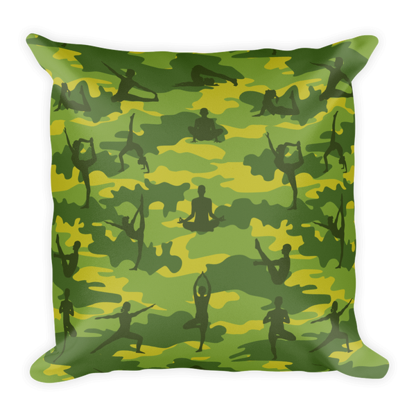 Camo Pillow | Yoga | In Tropical Greens - Mask Brand Camo Design Clothing, Bags and Accessories