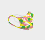 Poly Mask | Elephant | Yellow, Pink, and Green