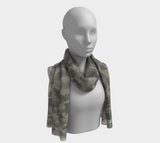 Long Elephant 1 Scarf, grays, in two sizes.