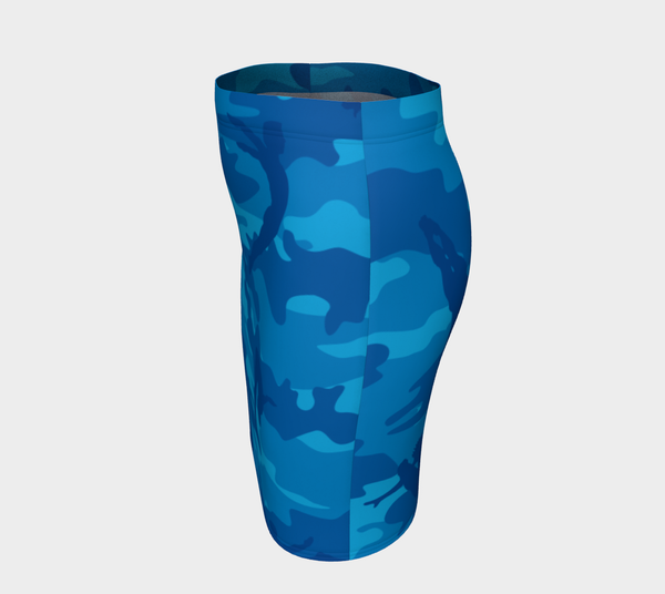 Pencil Skirt | Divers | In Blues - Mask Brand Camo Camouflage Design Clothing, Bags and Accessories