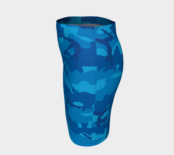Pencil Skirt | Gymnastics | Blues - Mask Brand Camo Camouflage Design Clothing, Bags and Accessories