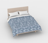 Duvet Cover in Snowboard Camo, in light grays, for full/double size bed.