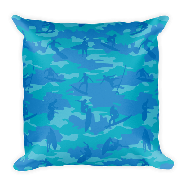 Camo Pillow | Surf 2 | In Blues and Aqua - Mask Brand Camo Design Clothing, Bags and Accessories