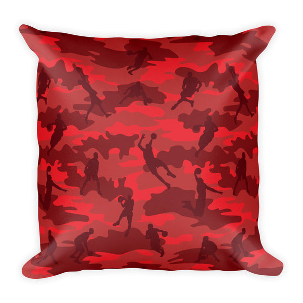 Camo Pillow | Basketball 1 | In Reds - Mask Brand Camo Design Clothing, Bags and Accessories