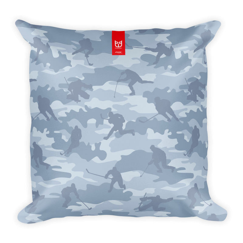 Camo Pillow | Hockey 1 | In Grays - Mask Brand Camo Design Clothing, Bags and Accessories