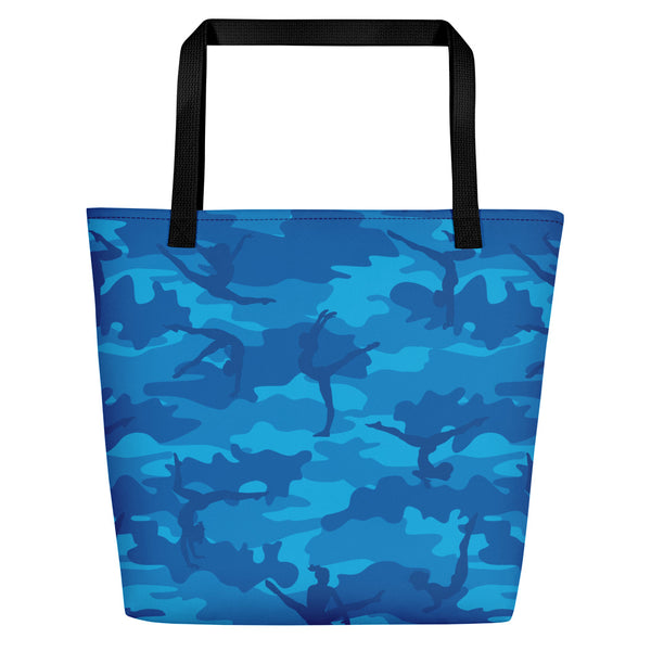 Large Tote | Gymnastics Camo | In Blues.