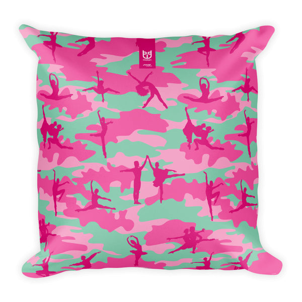 Camo Pillow | Ballet 3 | In Pinks - Mask Brand Camo Design Clothing, Bags and Accessories