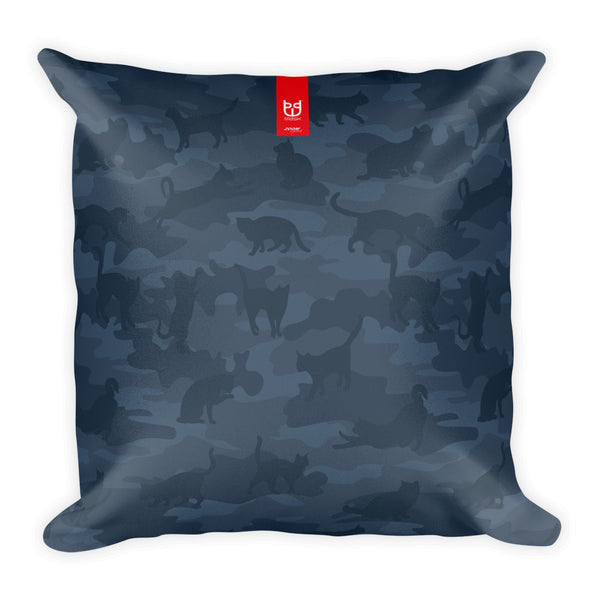 Camo Pillow | Cats 1 | In Grays - Mask Brand Camo Design Clothing, Bags and Accessories