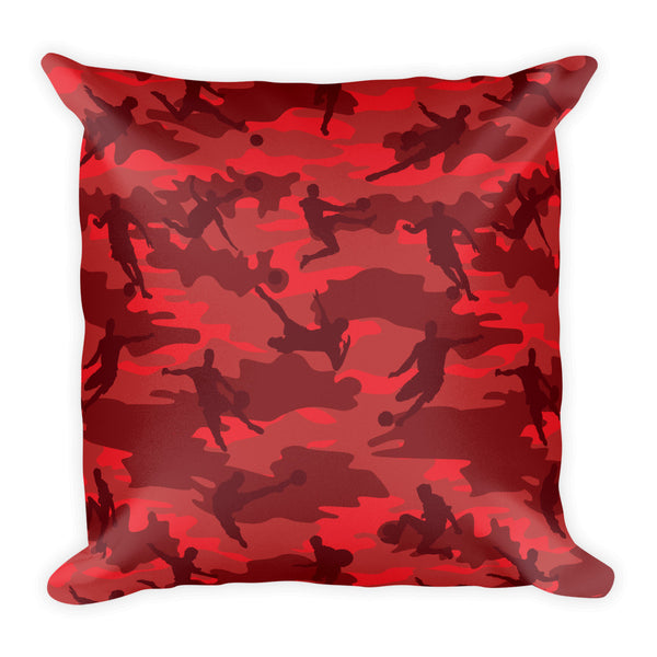 Camo Pillow | Basketball Camo In Reds -  Back view