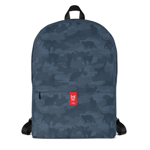 Camo Backpack | Cats 1 | In Grays - Mask Brand Camo Camouflage Design Clothing, Bags and Accessories