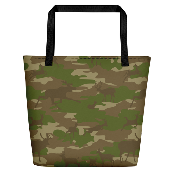 Large Tote | Hunter Camo | In Browns and Green.