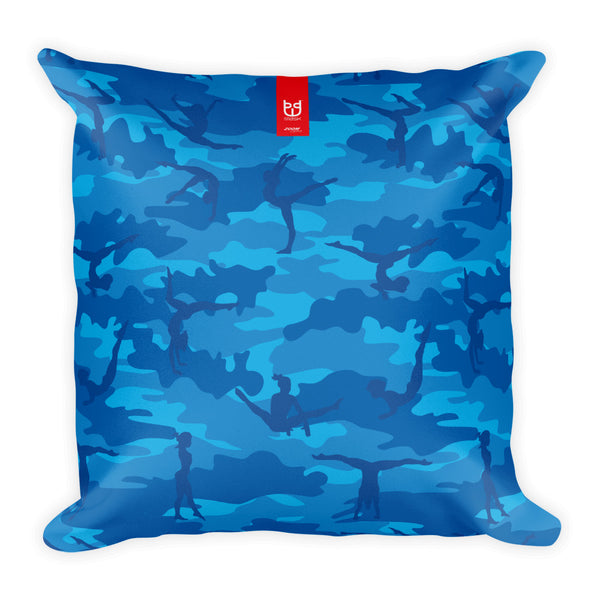 Camo Pillow | Gymnastics 1 | In Blues - Mask Brand Camo Design Clothing, Bags and Accessories