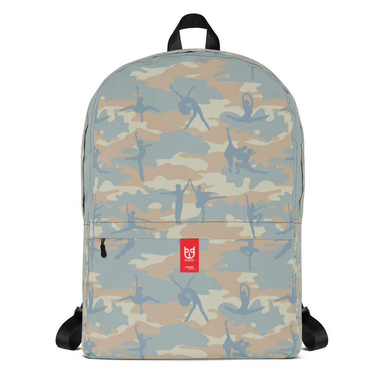 Camo Backpack | Ballet 1 | In Beige, Peach, and Pale Blue - Mask Brand Camo Camouflage Design Clothing, Bags and Accessories