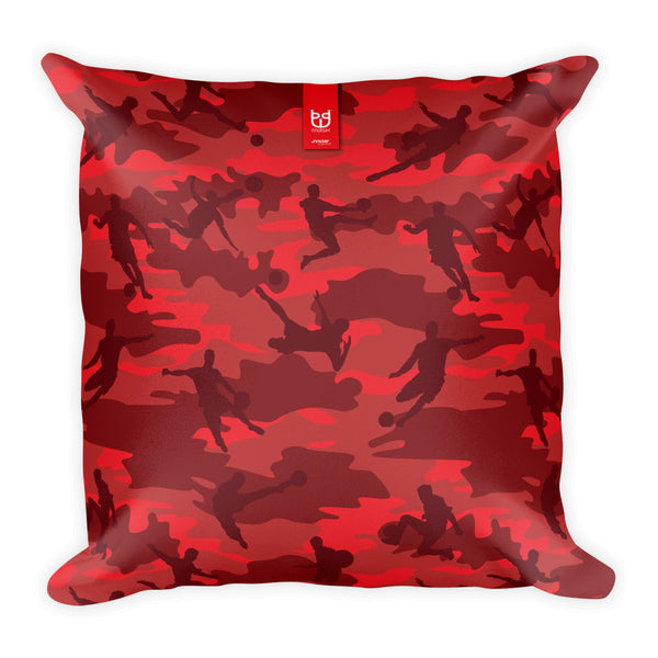 Camo Pillow | Basketball Camo In Reds - Front view