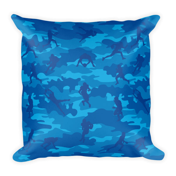 Camo Pillow | Football 1 | In Blues - Mask Brand Camo Design Clothing, Bags and Accessories