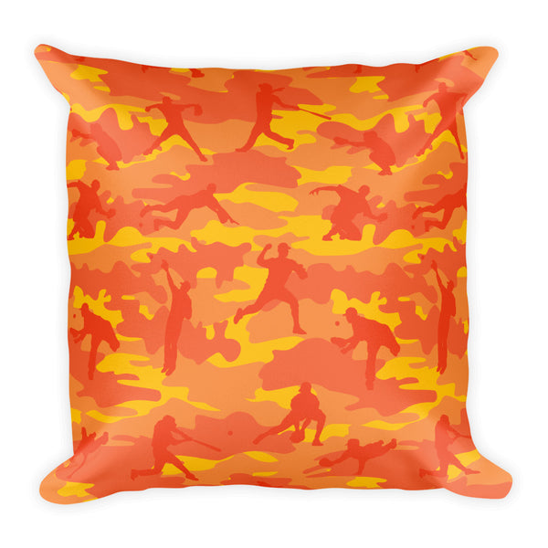 Camo Pillow | Baseball 1 | In Orange - Mask Brand Camo Design Clothing, Bags and Accessories