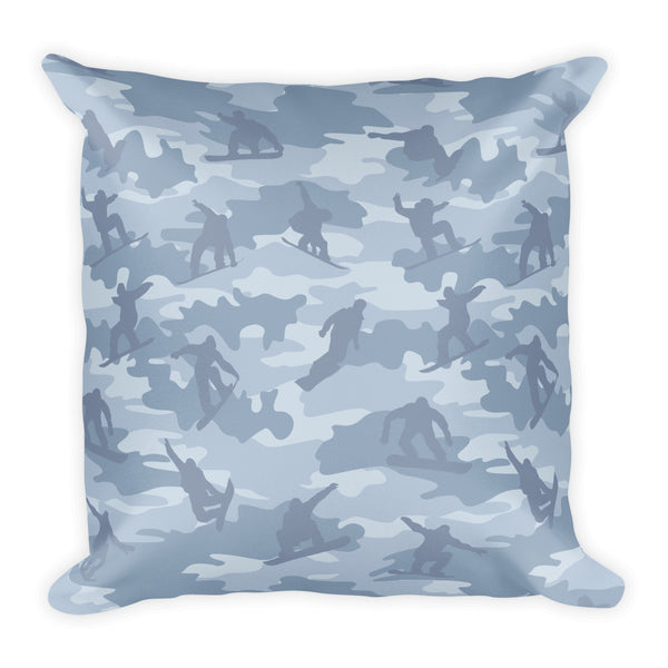 Camo Pillow | Snowboard 1 | In Grays - Mask Brand Camo Design Clothing, Bags and Accessories