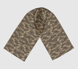 Scarves for Women. Australia Camo Scarf long. In browns.