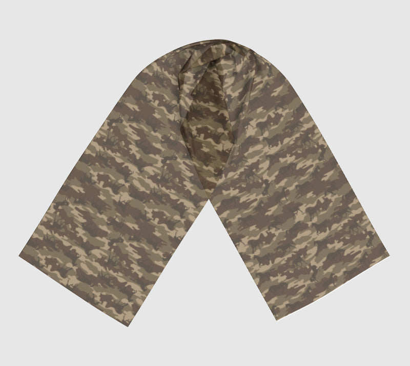 Camo Scarf Long | Horses | Brown - Mask Brand Camo Camouflage Design Clothing, Bags and Accessories