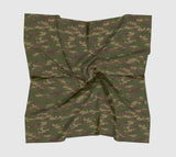 Hunter Camo Scarf | Square | In browns and green. Available in 3 sizes, and 3 fabrics.