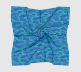 Ocean Camo Scarf | Square | In blues and aquas. Available in 3 sizes, and 3 fabrics.