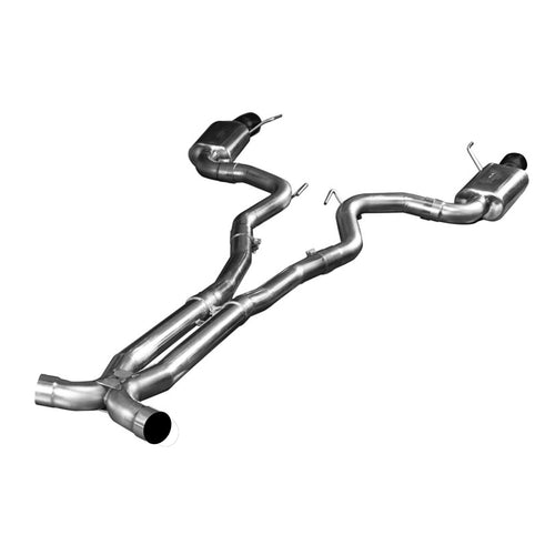 "2015+ Ford Mustang GT 5.0L Full 3"" Exhaust System w/ X-Pipe & Black Tips"