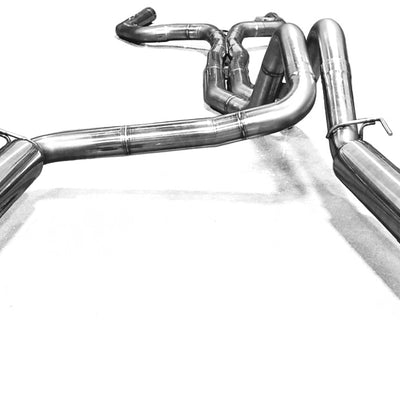 "1993-1997 Camaro/Firebird True Dual 3"" Off Road Exhaust System (quad tip)"