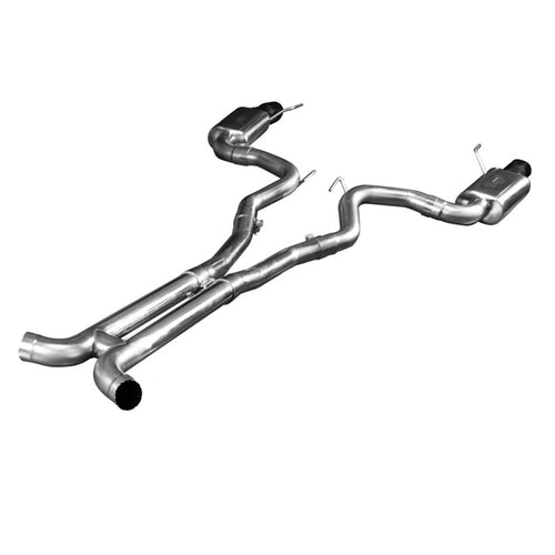 "2015+ Ford Mustang GT 5.0L Full 3"" Exhaust System w/ H-Pipe & Black Tips"